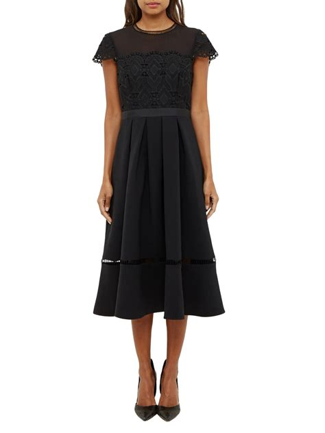 www dress ted baker frizay lace bodice full midi dress stunning