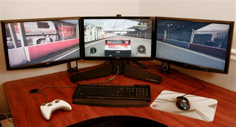 Computer Set Ups by Xfx S Triple Display Monitor Stand The Tech Report Page 1