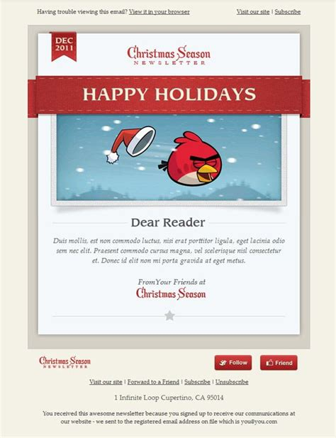 christmas season email template email design inspiration