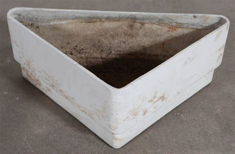 Vintage Concrete Planters by Vintage Triangle Plaster And Concrete Planter At 1stdibs