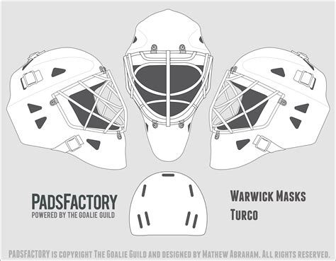 goalie mask painting template mask templates the goalie archive