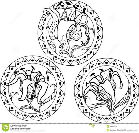 decorative styles nouveau style ornament stock vector image 44438208