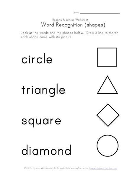 shape worksheet kindergarten recognize color names