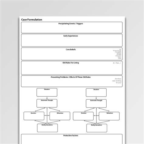 formulation template longitudinal formulation 1 worksheet pdf psychology tools