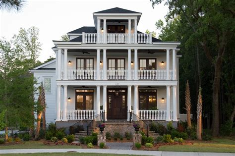 studio 291 front of charleston style custom home design