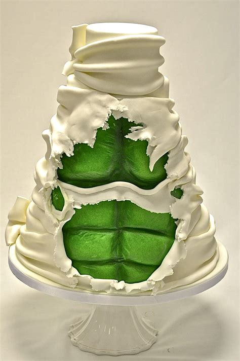 tier hidden hulk cake wedding cakes cakeology