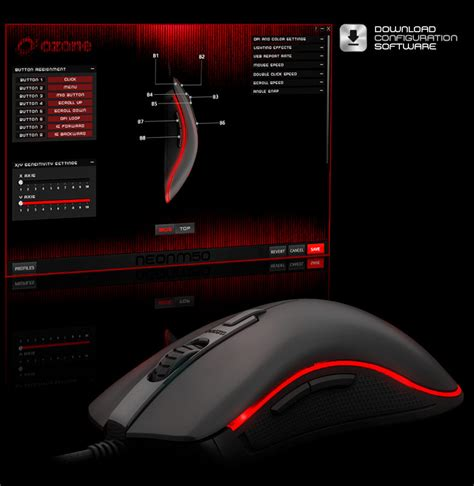neon layout software mouse neon m50 ozone gaming