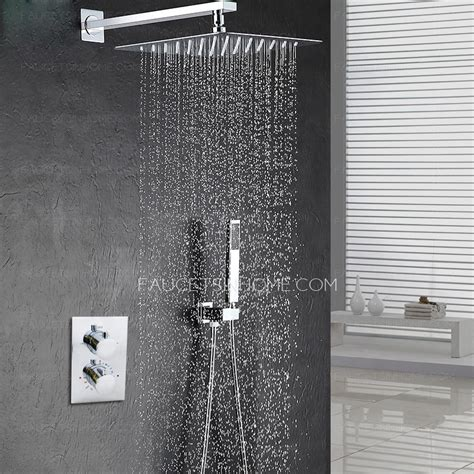 Bathtub Fixture Modern 10 5inch Pressurized Slim Top Shower Faucet Concealed