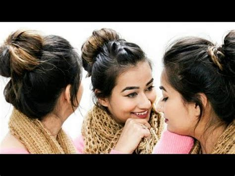everyday hairstyles for medium hair indian three quick easy bun hairstyles everyday hairstyles