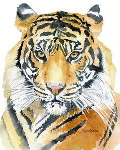 windsorlion deviantart ferocious tiger watercolor painting by olechka01