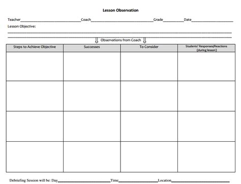 search results for lesson observation form calendar 2015