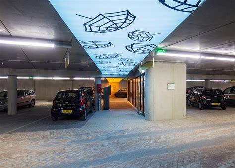 underground parking garage green roofed underground garage is shaped like dunes to
