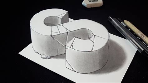 S Drawing 3d by How To Draw 3d Letter S 3d Drawing Easy Trick