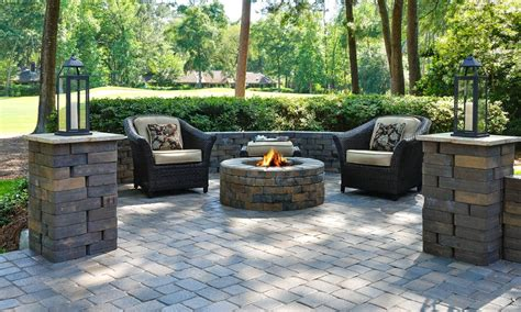 Patio Designs And Ideas by Concrete Paver Patio Ideas Ohfiddlesticks Landscaping