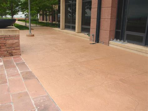 Concrete Patio Stain Colors - solid color concrete stains the ideal way to recolor
