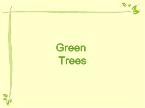 Free Powerpoint Template Green Tree Green Powerpoint Templates Free