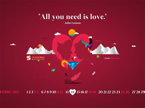 themes love all all you need is love february 2012 calendar desktop themes