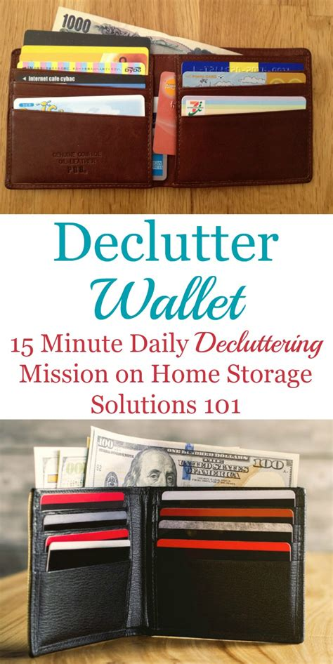 home storage solutions 101 how to declutter wallet keep it that way