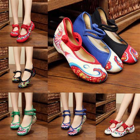 Sepatu Flat Bordir Merah No 38 buy grosir cina bordir sepatu from china cina