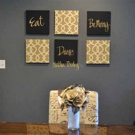 Wall Decor Sets by Black And Gold Eat Drink Be Merry Chic Wall Set