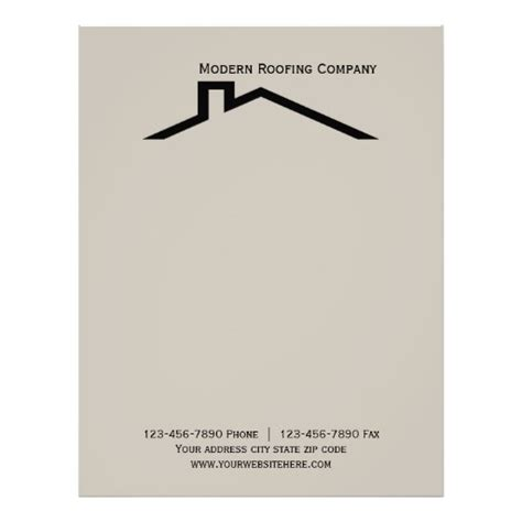 free construction company letterhead templates construction business letterhead zazzle