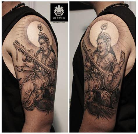 saraswati tattoo designs saraswati hindu goddess knowledge arts wisdom