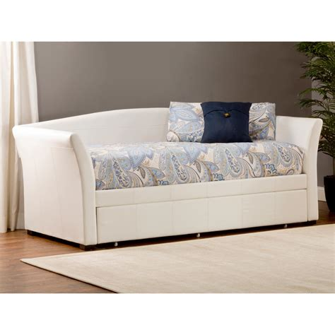 montgomery upholstered daybed trundle white dcg stores