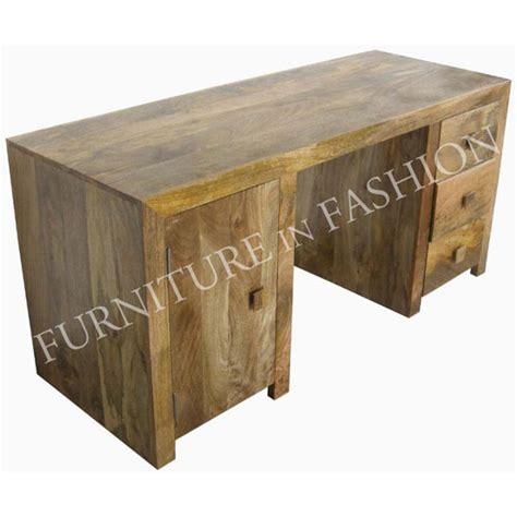 dakota wooden office desk large in light finish desks