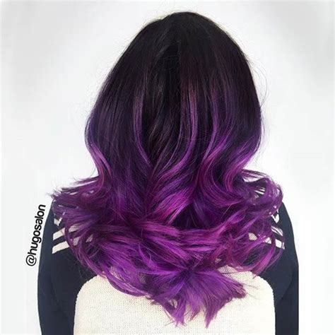 black n purple hair the luscious curlbombs purple and violet balayage twisted river hair studio