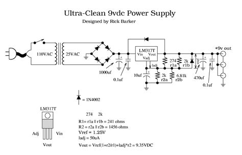 power transformer circuit diagram power ultra clean 9vdc power supply project electronics