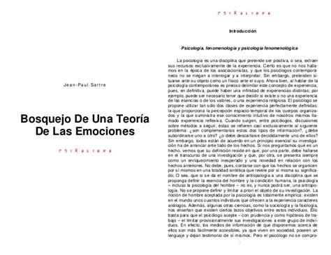 bosquejo de una teoria 8420612987 bosquejo de una teoria de las emociones jean paul sartre