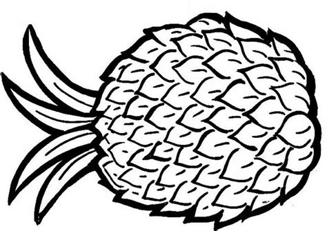 Pineapple Coloring Pages Coloring Pineapple Coloring Page