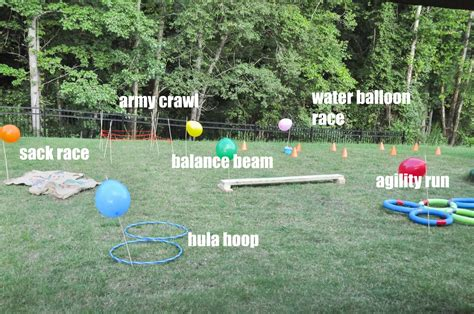 how to create a backyard obstacle course for your
