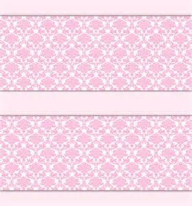 Ebay Nursery Wall Stickers pink damask wallpaper border wall decals baby girl