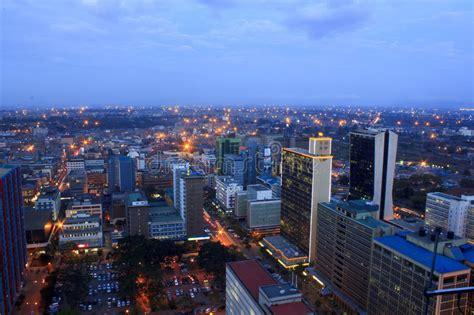 nairobi official site nairobi kenya at night editorial stock photo image of
