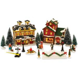 21 piece christmas village set walmart com