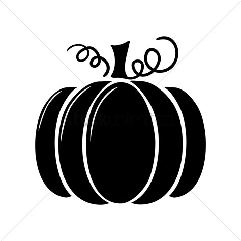 pumpkin silhouettes silhouette of pumpkin vector image 1447191 stockunlimited
