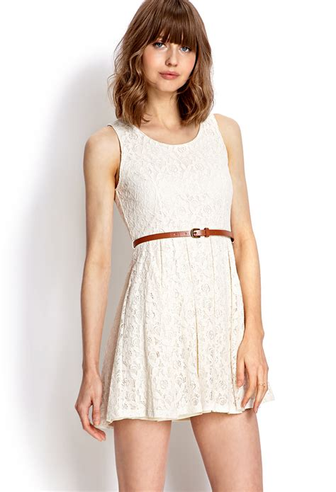 Forever21 Lace Dress forever 21 rustic lace dress in pink lyst