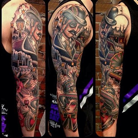 neo traditional tattoo sleeve tattoo collection
