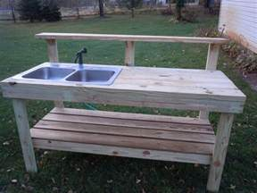 potting bench with sink everything in between by potting bench