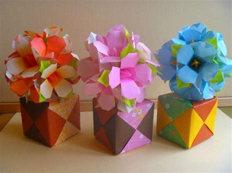 Origami Flower Bouquet Tutorial - 2534 best origami flowers images on origami