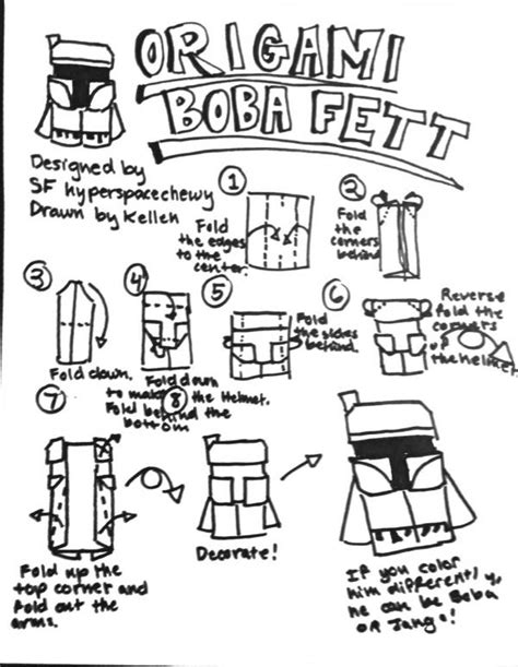 How To Make A Origami Yoda Finger Puppet - jango fett search results origami yoda page 5