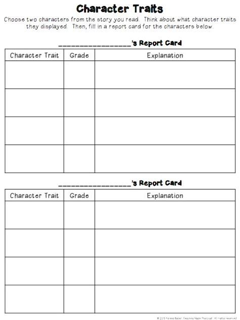character trading cards template 3rd grade 36 best images about character analysis on