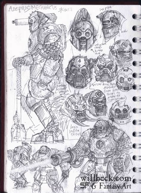 sketchbook wiki skitarii sketches willbeck