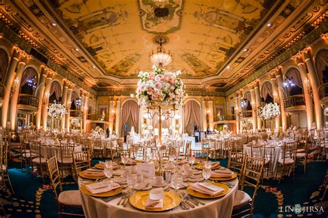 wedding los angeles ca millennium biltmore hotel wedding reception rashida naeem