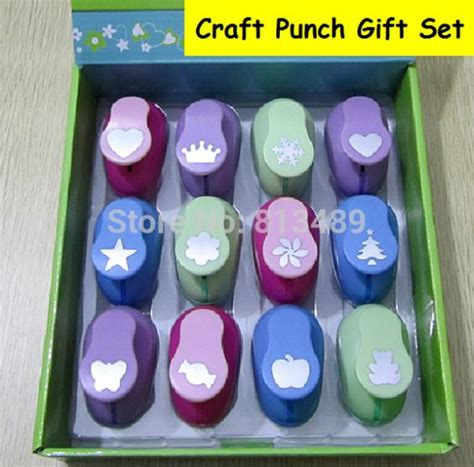craft paper punch set 12pcs set craft punch set paper cutter furador de
