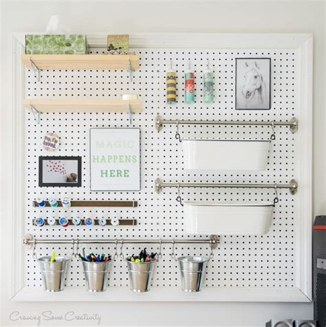 pegboard ideas how to build a pegboard office supply organizer