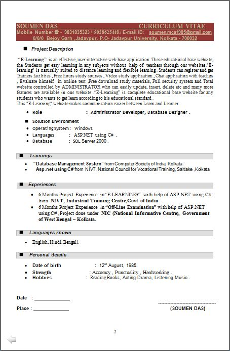 asp net developer resume sle 16 software developer description 16 software