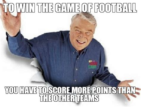Madden Memes - if you lose your best cornerback and pun by john madden