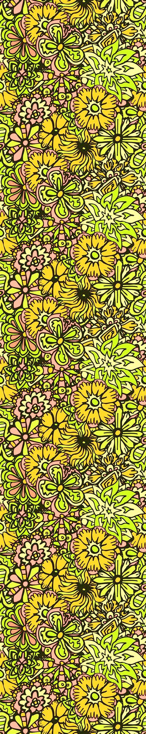 yellow hippie pattern yellow hippy flowers hippy flowers pattern by antonybriggs